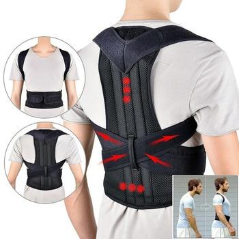 Back Support Belt Man Adjustable Posture Corrector Back Support Lower Back Support Belt for Back Pain Spine Posture Corrector