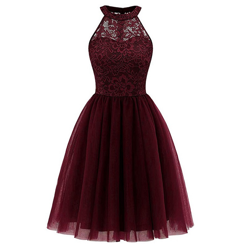 Closeout DealsBridesmaid Dresses Prom-Gown Front-Short Fashion Clothing HALTER-BOW Wedding Long-Back