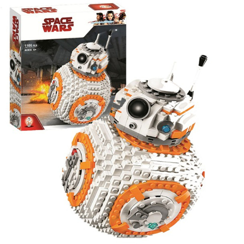 1106Pcs <font><b>BB8</b></font> <font><b>Star</b></font> <font><b>Wars</b></font> Robot Set Series 75187 Building Blocks Toys Compatible Starwars Gift For Children image