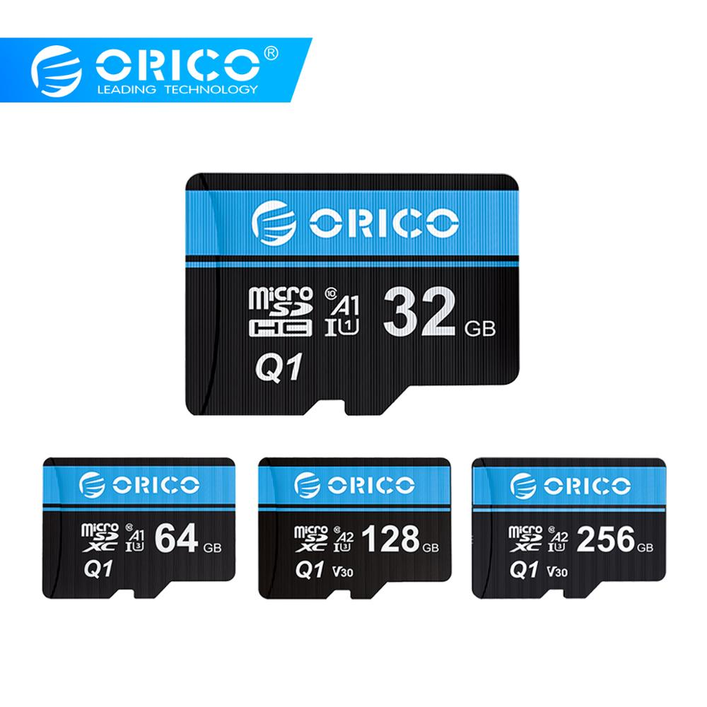 ORICO Micro SD Card Memory Card 256GB 128GB 64GB 32GB 80MB/S TF Card Car Micro Sd Card Class10 Flash Card Memory 32GB TF Card