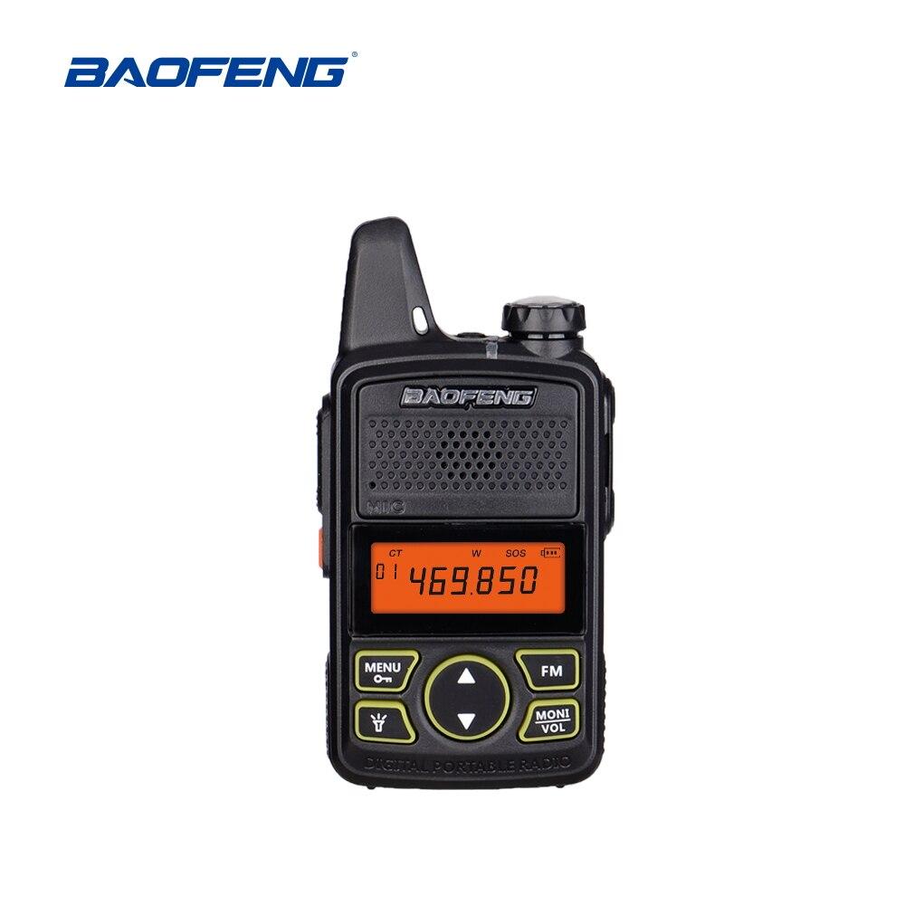 Baofeng BF-T1 Portable Earphone Ptt MINI Walkie Talkie Handheld Bft1 Hotel Civilian Radio Comunicador Ham HF Transceiver