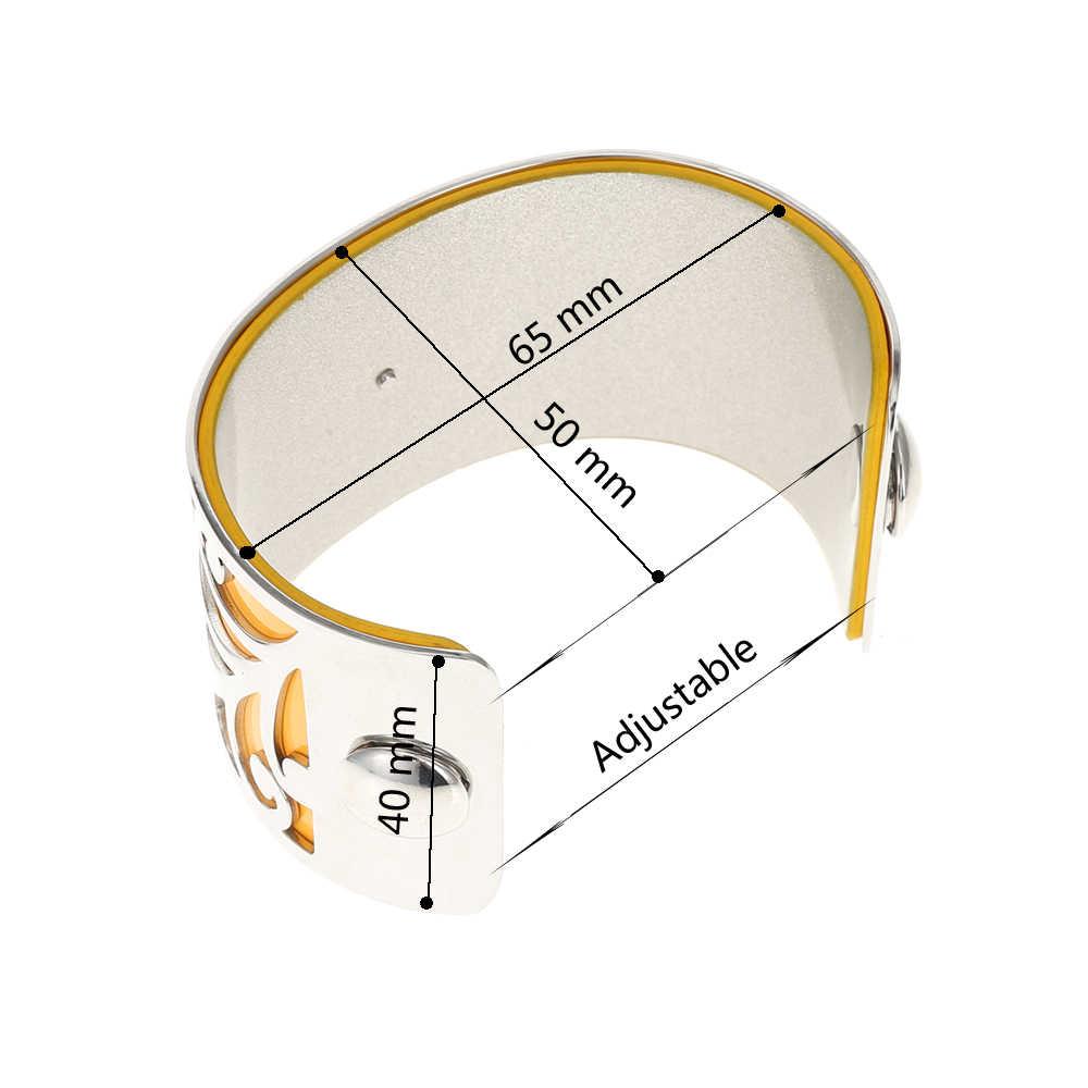 Legenstar Stainless Steel Bracelets Bangles for Women Jewelry Interchangeable Cuff Bracelet Manchette Femme Large Argent