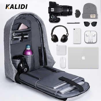 KALIDI  Men Backpacks 15inch Multifunction Laptop Backpack USB Charging School Bag Mochila 17 inch  Travel Backpack Anti theft - DISCOUNT ITEM  40% OFF All Category