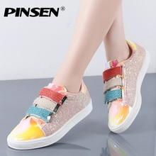 PINSEN Fashion 2020 New Sneakers Women Flats Shoes