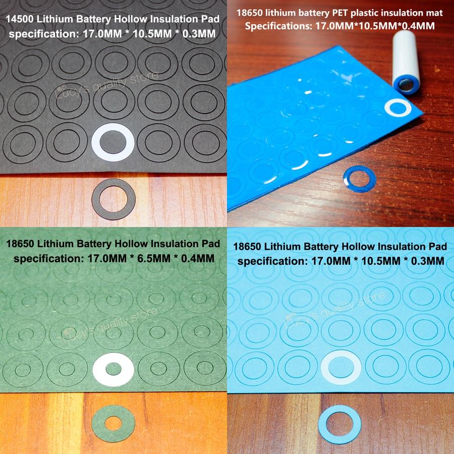 100 шт./лот 18650 литиевая батарея оберточная бумага изоляционная прокладка полые прокладки упаковка батареек уплотнительная поверхность