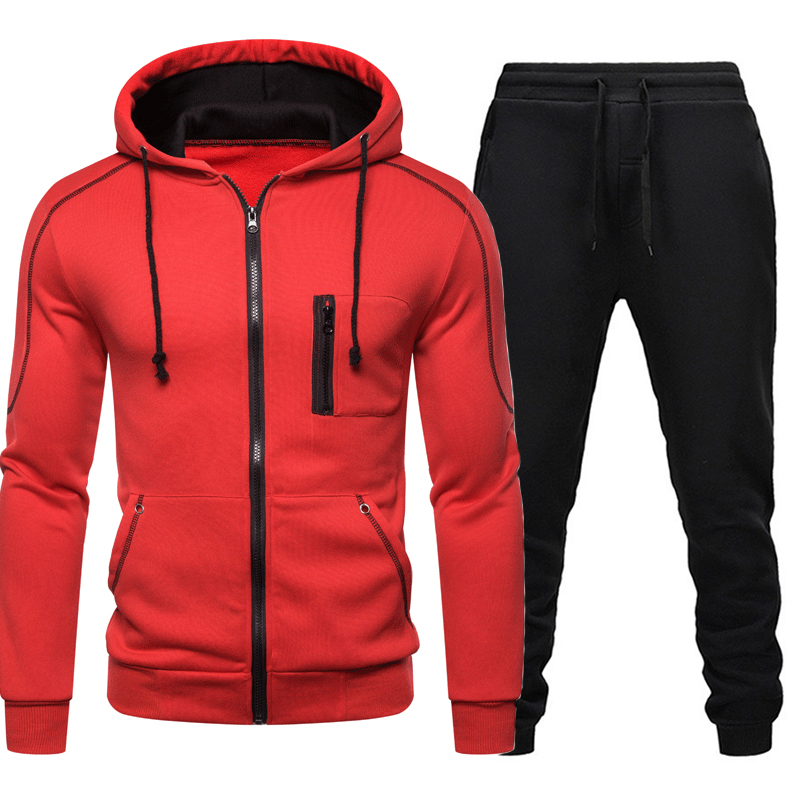 2020 Tracksuit Men Casual Sportswear Men's Clothes Tow Pieces Jacket+Pant Ropa Hombre Track Suit Sets Spring Hooded Sweatshirts