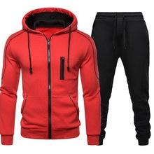 2020 tracksuit men casual sportswear men's clothes tow pieces