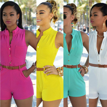 2020 New Women Buttons Sleeveless Trench Pants Suit Set Sports Safari Tracksuits Outfit 8 Colors S-2XL With Belt Top Selling Hot