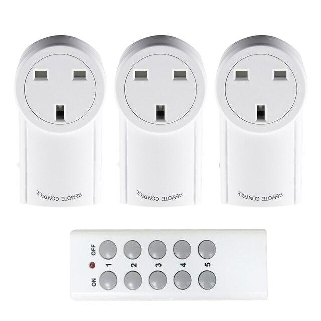Evrensel İngiltere tipi priz fiş RF 433mhz kablosuz uzaktan kumanda ışık anahtarı akıllı ev otomasyon uyumlu Broadlink RM4 Pro