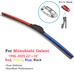 HESITE Colored Hybrid Wiper Blades For Mitsubishi Galant 6 7 8 9 4G63 4G64 DJ ED EF VR4 2000 2001 2003 2004 2006 2007 2008 2009