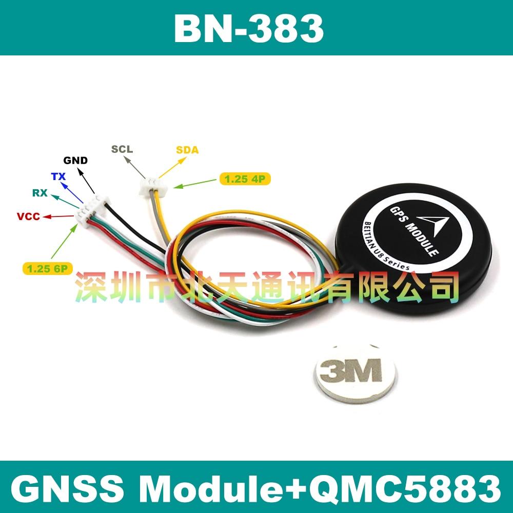 Gps-модуль BEITIAN QMC5883L с компасом, 5 В, GPS, ГЛОНАСС, 4 м, вспышка, TTL уровень, 9600bps, BN-383