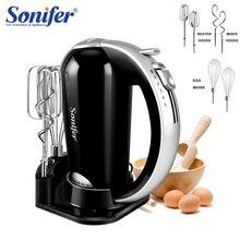 5 سرعات خلاطات الطعام الفولاذ المقاوم للصدأ عجّان خافق البيض العجين خلاط مع خلاط كهربائي للمطبخ الطبخ 220 فولت Sonifer