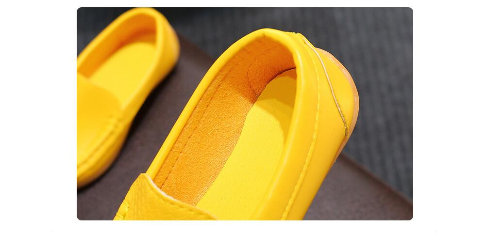 Haadc407b4baf4416858f524d062c7295l - 12 Colors All Sizes 21-36 Children Shoes PU Leather Casual Styles Boys Girls Shoes Soft Comfortable Loafers Slip On Kids Shoes