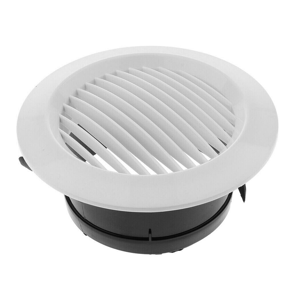 Air Vent Grille Circular Indoor Ventilation Outlet Duct Pipe Cover Cap ALI88
