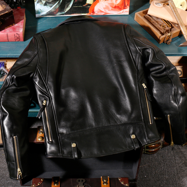 YR!Free shipping.Italy Luxury Batik cowhide clothing,motor biker style leather jackets,J24 Man vintage genuine leather coat, 5