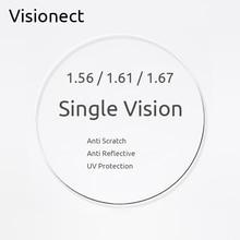 Visionect 1.56 1.61 1.67 Single Vision Prescription Optical Glasses Lenses Anti Reflective For Myopia Or Reading Presbyopia