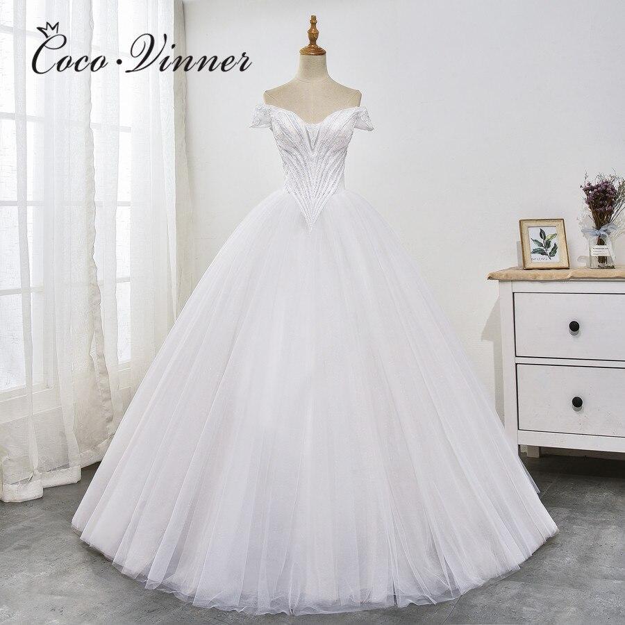 V Neck Cap Sleeve Slim Waist Princess Wedding Dresses 2019 New Europe And America Design Plus Size Wedding Gonws Mariage WX0029