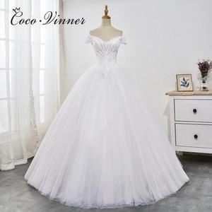 V neck Cap Sleeve Slim Waist Princess Wedding Dresses 2020 New Europe and America Design Plus Size Wedding Gonws Mariage WX0029