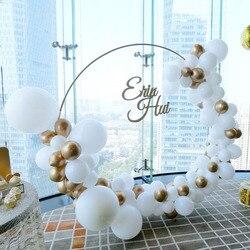 Soporte de arco de boda de círculo de hierro decoración de fondo de un solo arco estante de césped al aire libre de la boda de la flor de la puerta Marco de decoración de fiesta