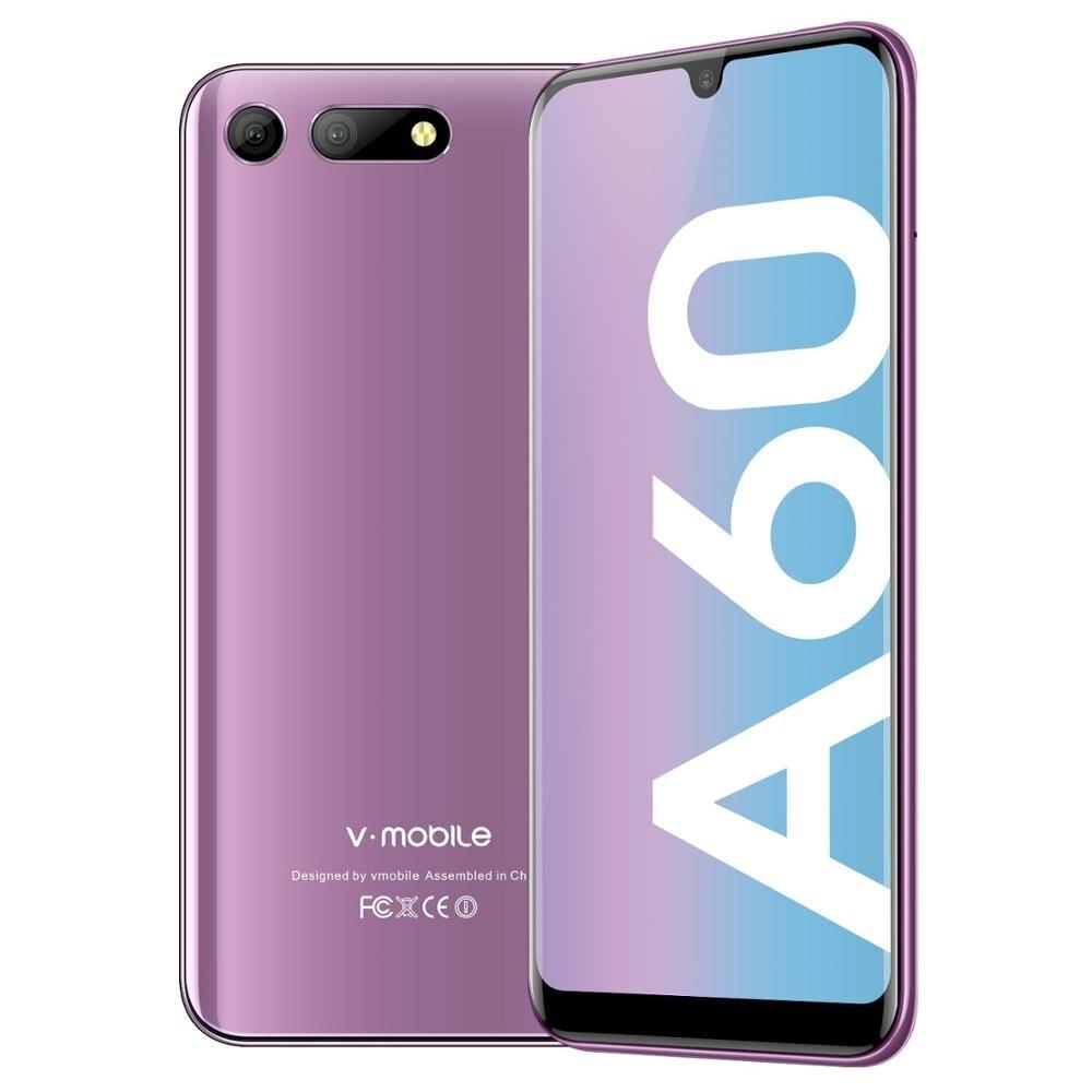 "4G LTE 3GB RAM 32GB ROM TEENO Vmobile A60 Mobile Phone Android 8.1 5.7"" HD+ 2.5D IPS 3800mAh 4G Celular Smartphone Cell Phone"
