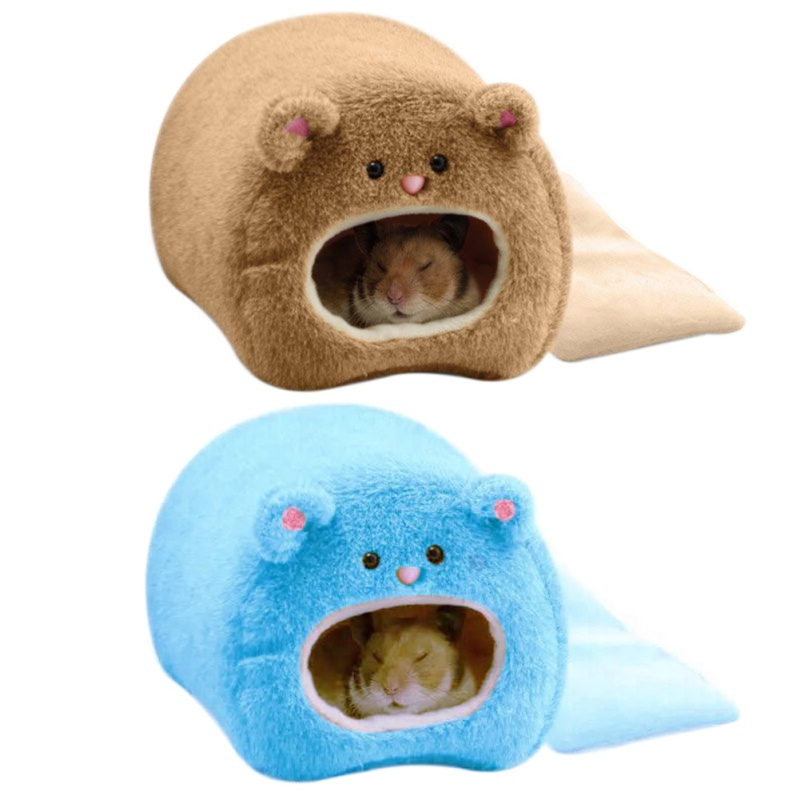 Cute Small Animal Cages Pet Rabbit Hamster House Bed Rat Guinea Winter Warm Hanging Cage Hamster Nest Pets Supplies