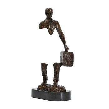 Famous Bruno Catalano Bronze Traveller Statue Sculpture 1