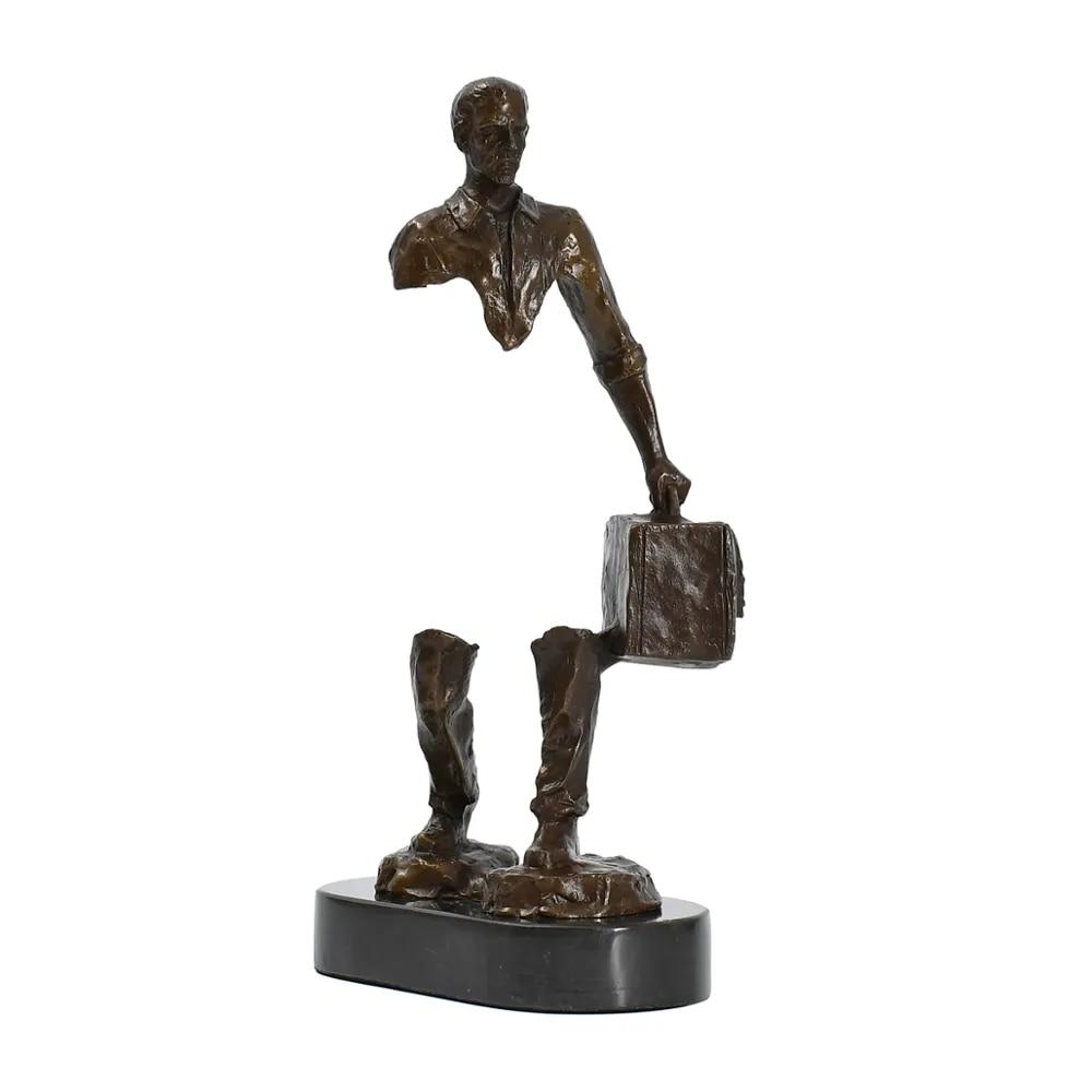 die reisenden bronze statue skulptur abstrakte beruhmte moderne reise mann mannlichen messing figurine sammeln vintage kunst wohnkultur