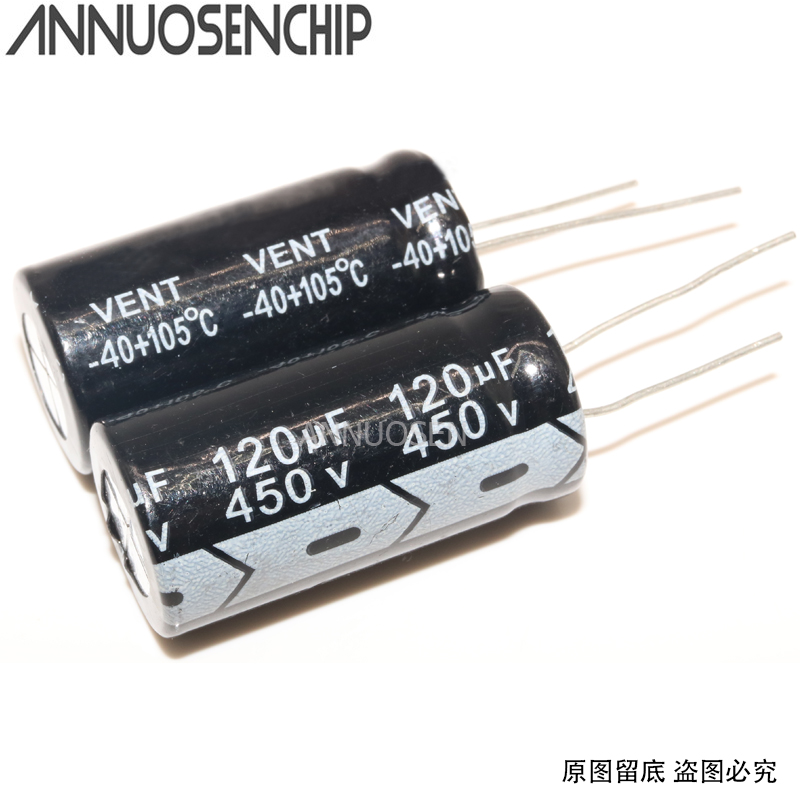 Electrolytic capacitors 450V 120UF 450 V 120 UF new image