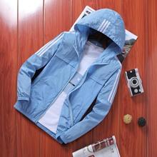 2019 Summer New Style Coat Men #8217 s Men Wind Shield Casual Korean-style Jacket Sports Hooded Coat Popular Brand Men #8217 s tanie tanio