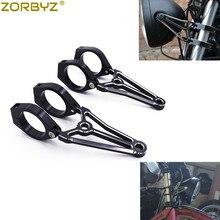 ZORBYZ Black Motorcycle 39mm/41mm/51mm/54mm/57mm CNC Headlight Mount Bracket Fork Turn Signal Light Clamps For Harley Honda