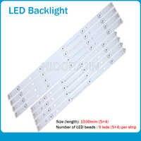 """10 pièces LED bande pour LG INNOTEK DRT 3.0 50 """"A/B 6916L-1978A 6916L-1779A 6916L-1982A 6916L-1983A 50LB5610 50LB650V 50LB653V"""