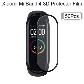 Protector Screen Film For Xiaomi Mi Band 4 Bracelet Protector 3D Surface Full Screen Coverage Protective 50Pcs