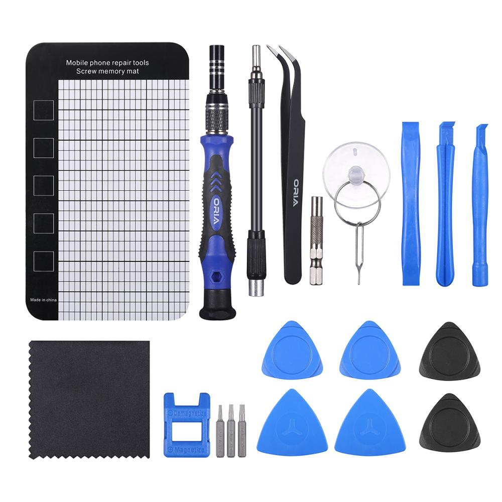 Tools : ORIA Precision Screwdriver Set 120 in 1 Screwdriver Kit with 101 Bits Mini Magnetic Screwdriver Bit Set Computer Repair Tool Kit
