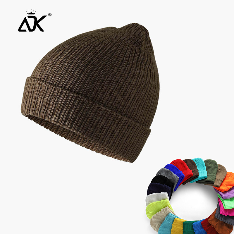 Hat Winter Brimless Sailor Cap Outdoor Warm Stretchy Hat Sloucy Bonnet Knitted  Gorros Cuffed Woman Hip Hop Beanie