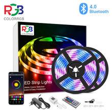 10m 20m, luz de tira conduzida do rgb, cor do controle do aplicativo que muda as tiras claras do diodo emissor de luz smd 5050 rgb com controle remoto do rf para para salas, festa,