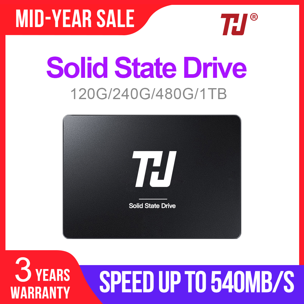 "THU Notebook SSD SATA3 2.5"" 120GB 240GB Internal Solid Hard Disk Drive 480GB 1TB 540MB/s  for PC Laptop notebook-in Internal Solid State Drives from Computer & Office"