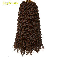 Joy&luck Fashion Long Curly Faux Locs Crochet Braids Hair 18