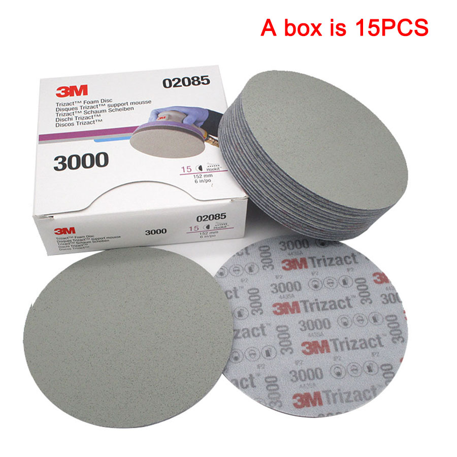 6 Inch 152mm Dry Wet Sponge Sandpaper Disc Back Velvet Abrasive Tools For Grinding 3000 5000 Grit 3M02085