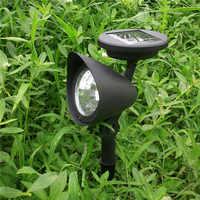 2019 1pcs di trasporto del Commercio All'ingrosso 3 LED Riflettore Alimentato Solare Esterna Giardino Paesaggio Prato Yard Path Spot Lampada della Luce della decorazione Auto su