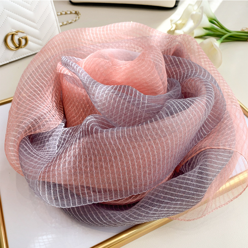 2019 Silk Scarf Women Soft Long Autumn Winter Scarves Fashion Solid Double Shawls And Wraps High Quality Foulard Pashmina Hijab