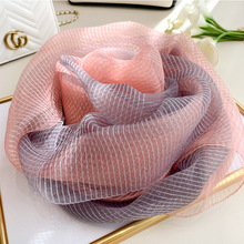 2020 Silk Scarf Women Soft Long Autumn Winter Scarves Fashion Solid Double Shawls And Wraps High Quality Foulard Pashmina Hijab