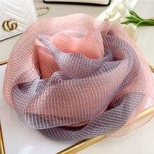 2020 Zijden Sjaal Vrouwen Zachte Lange Herfst Winter Sjaals Fashion Solid Dubbele Sjaals En Wraps Hoge Kwaliteit Foulard Pashmina Hijab