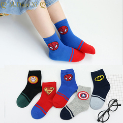 5Pairs/lot Infant Baby Socks Baby Socks for Girls Cotton Superman Cute Newborn Boy Toddler Socks Baby Clothes Accessories 1-15Y