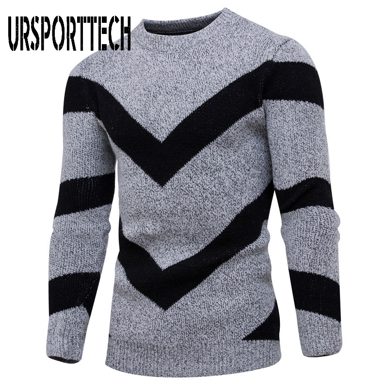 2019 New Autumn Winter Sweater Men Casual O-Neck Slim Cotton Knitted Sweater Top Quality Men Sweaters And Pullovers Men Clothing