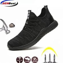 DEWBEST 2019 Breathable Steel Toe Cap Work Safety Shoes Outdoor Men Anti slip Deodorant Steel Puncture Proof Construction d9