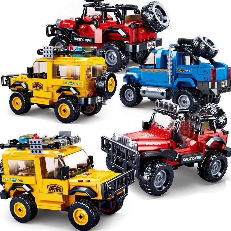 Città Technic Auto Pick-Up Truck Off Road SUV Velocità Campione Supercar Da Corsa Blocchi di Costruzione Moc Mattoni FAI DA TE Costruzione giocattoli