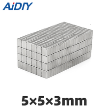 AIDIY 20/50/lot pcs 5x5x3mm strong block neodymium magnets permanent  small Super powerful 5 * 3mm