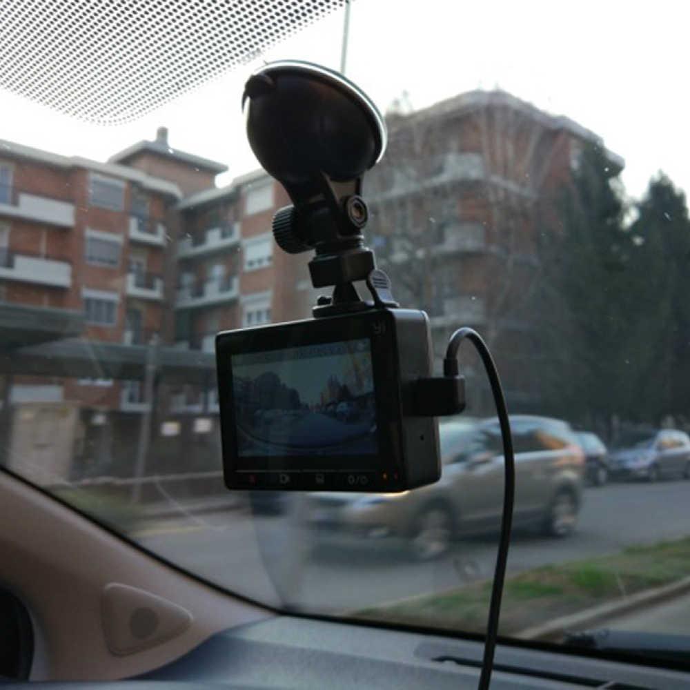 ل الأصلي شاومي سيارة حامل كاميرا قوس أسود شفاف مصاصة سوبر شفط Xiaoyi يي سيارة GPS DVR حامل