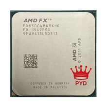 Amd Acht-Core Fx 8300 3.3 Ghz 8M Cache Cpu Processor Socket AM3 + 95W FX-8300 Bulk pakket FX8300