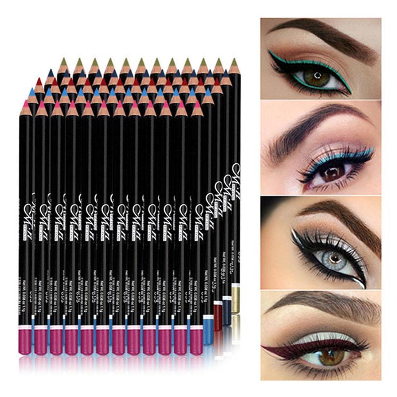 MENOW 12 Pcs/Set Waterproof Eye Pencil Makeup Pen Eyeliner Eye Pencil Waterproof Beauty Pen Eyeliner Eye Liner Pen Cosmetics